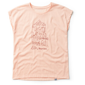 Houdini W's Big Up Message Tee Beach Peach